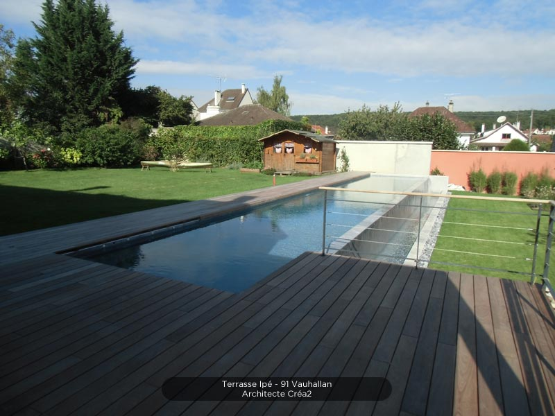 Giagnoni 91 : maison ossature bois terrasse charpente