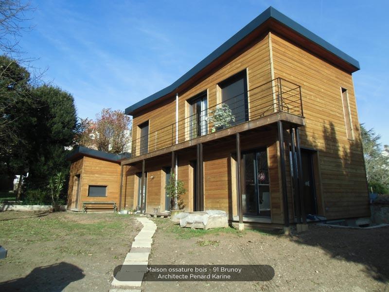 giagnoni 91 maison ossature bois terrasse charpente traditionnelle. Black Bedroom Furniture Sets. Home Design Ideas
